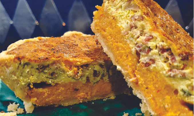 Red Pepper Grits Quiche