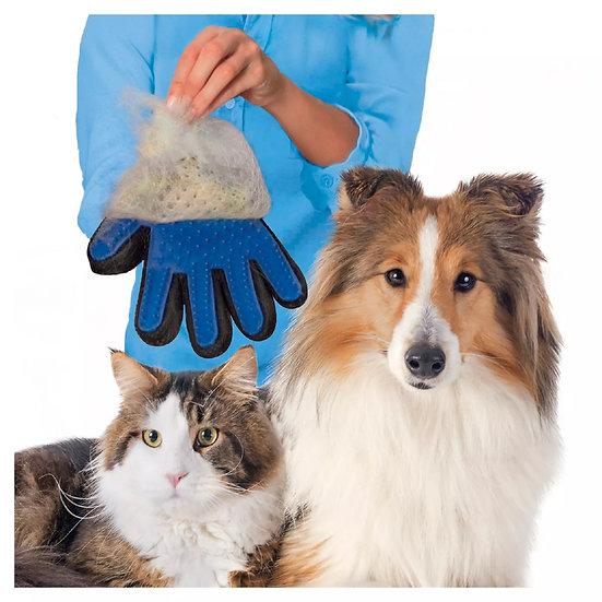 Cat Dog Grooming Glove Mitt Deshedding & Massage