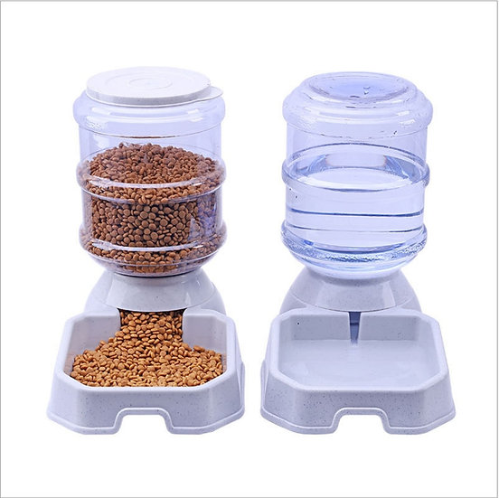 3.8L Pet Feeder Waterer for Dogs & Cats Large Capacity Dispenser