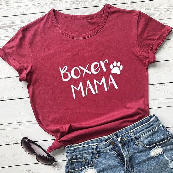 Boxer Mama Printed Women's T-Shirt 100% cotton