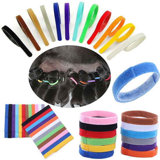 ID Whelping Bands collars 12 colours 2 Sizes