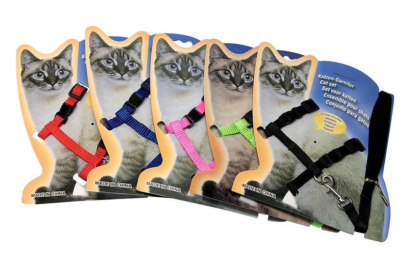 Cat Harness and Leash Set, Nylon Adjustable