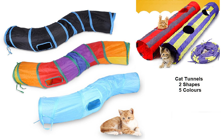 Play Tunnel for cats, kittens, pets, folding, 135cm x 23cm