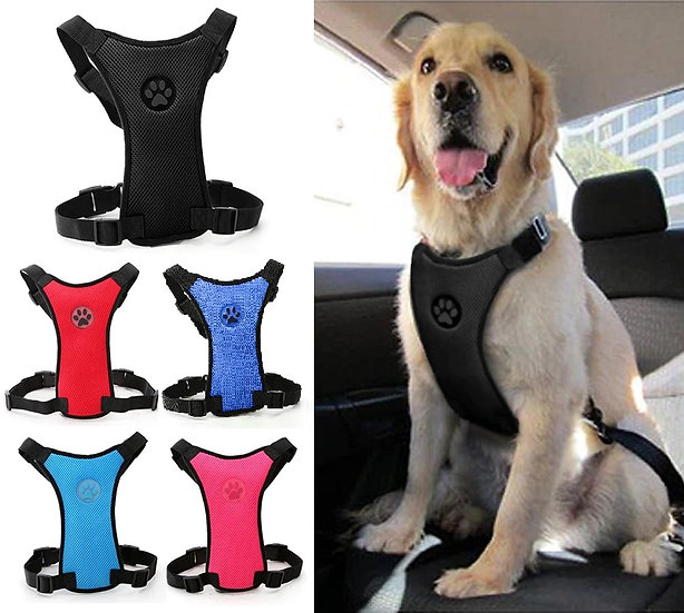 Dog Car Safety Harness Restraint Seat Belt Lead Small Medium Large pink blue red