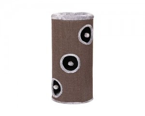 Round scratch pole with rope
