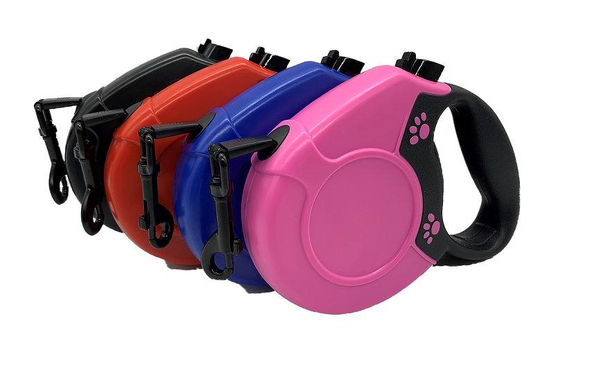 Retractable Dog Leash Lead Heavy Duty 5m Lockable 50kg Weight pink blue black