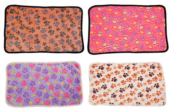 Fleece Pet Blanket Mat Soft Warm Cozy