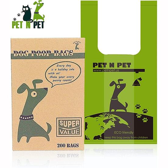 200 Unscented Tie Handle Dog Waste Poop Bags