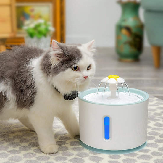 2.4lt Pet Water Fountain with LED level indicator USB powered