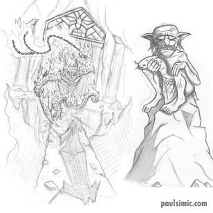 Gandalf and Gollum