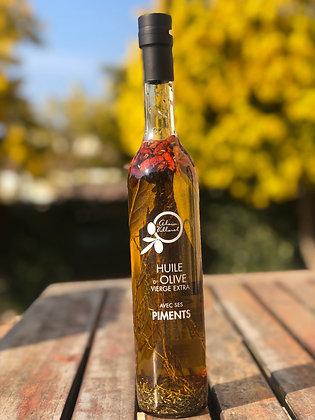 Huile d'olive aux herbes de Provence et piments 500 ml