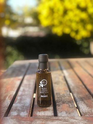 Huile d'olive vierge extra au Basilic (avec ses morceaux): 100 ml