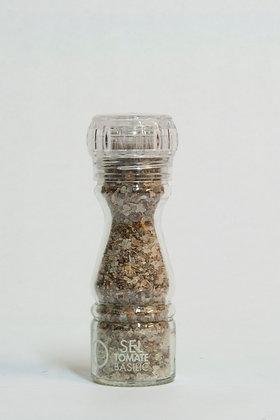 Moulin rechargeable sel à la Tomate et au Basilic
