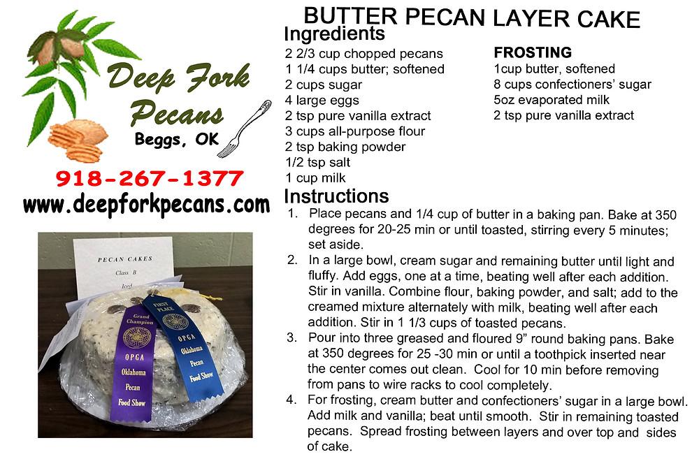 Butter Pecan Layer Cake Recipe