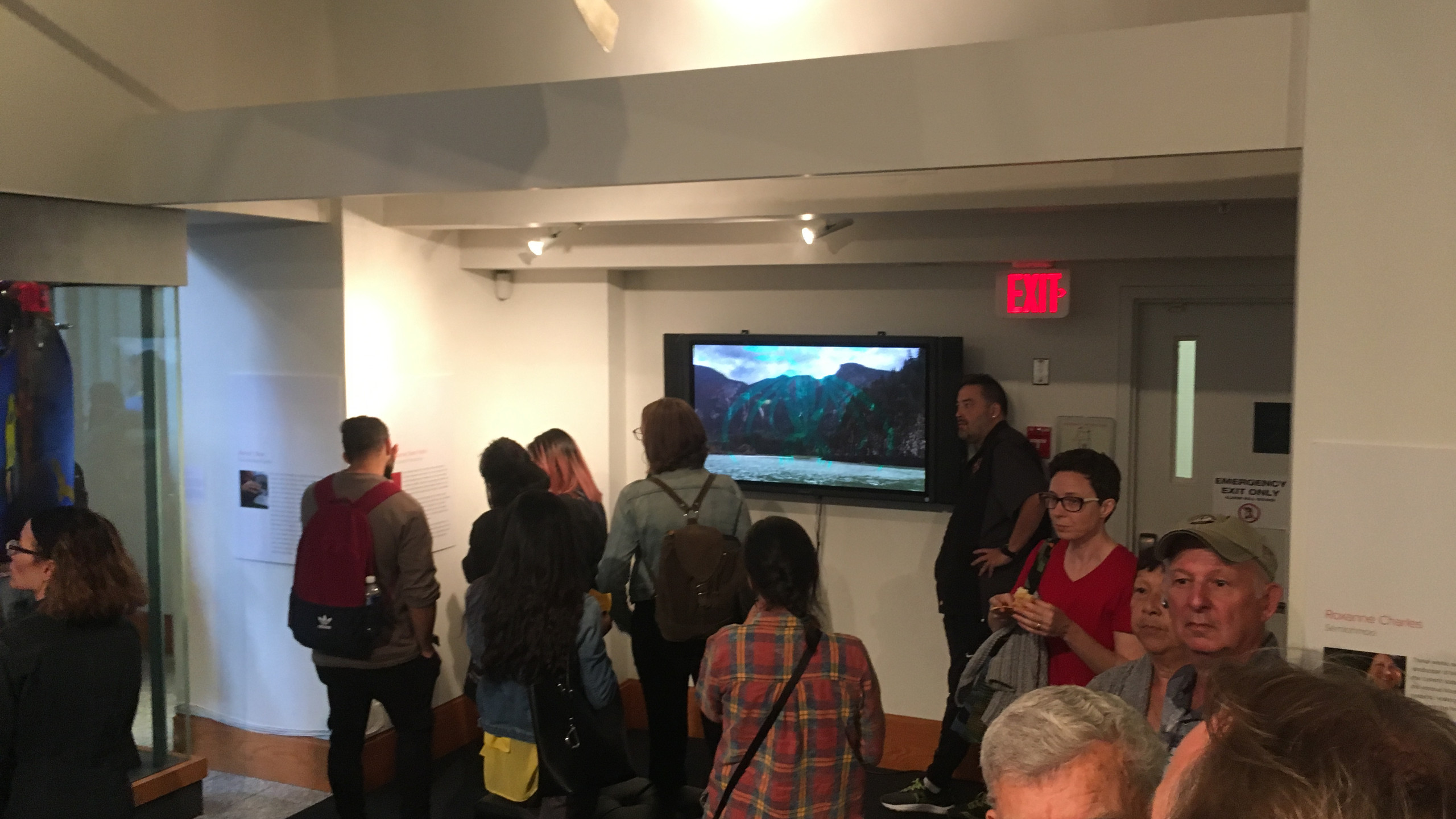 From the exhibit opening, September 12, 2017.