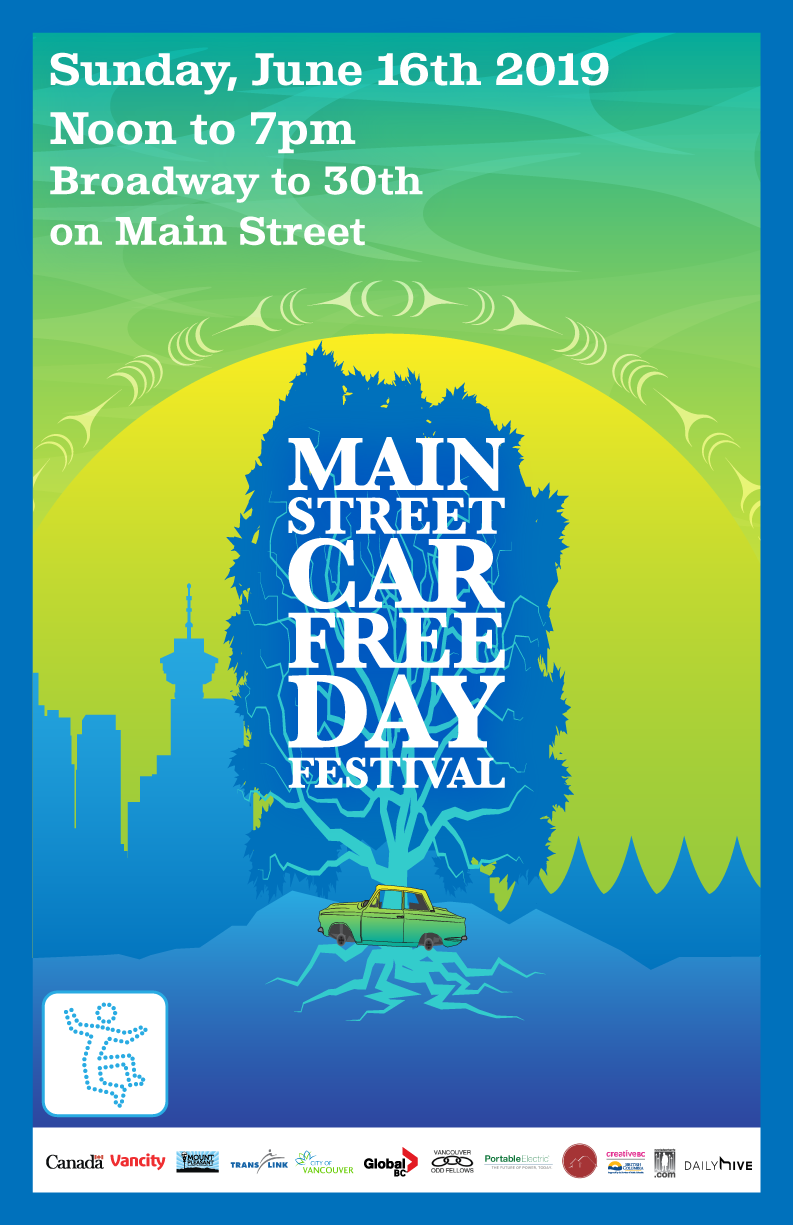 Car Free Day poster design 2019.