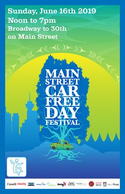 Car Free Day poster design 2019.
