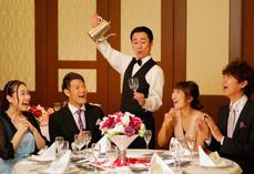 テーマパークで人気のパフォーマンスを披露宴用に派遣提供開始