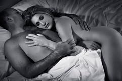 black white couples boudoir photos
