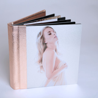 Designer Series Integrity Album - Rose Gold with Metal Print on Front Cover