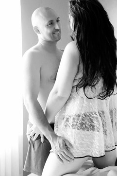 couples boudoir black white romantic photography