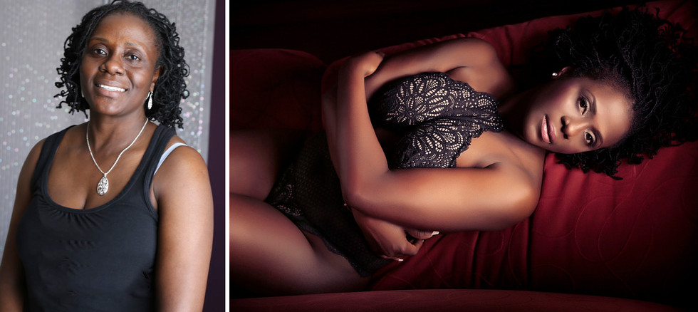 before after black women boudoir photos