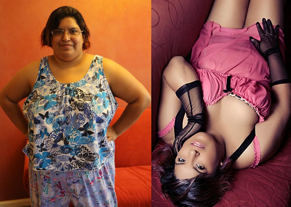 before after plus-size boudoir photos