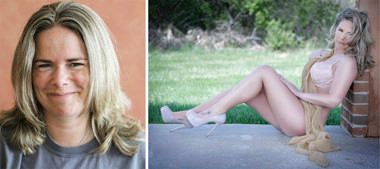 before after boudoir glamour pics