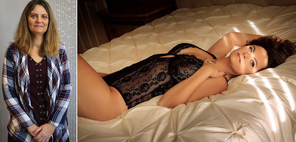 before after boudoir photography delaware