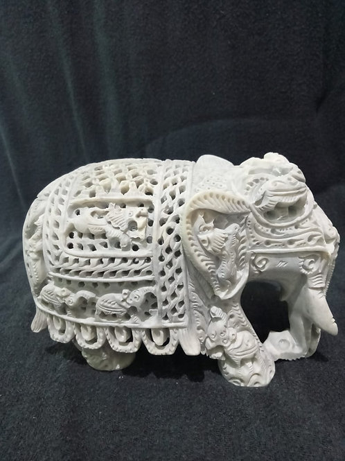 Stone Elephant Decor