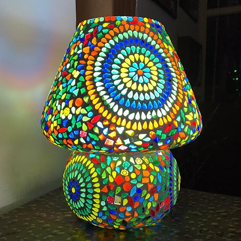 Glass mosaic lamp
