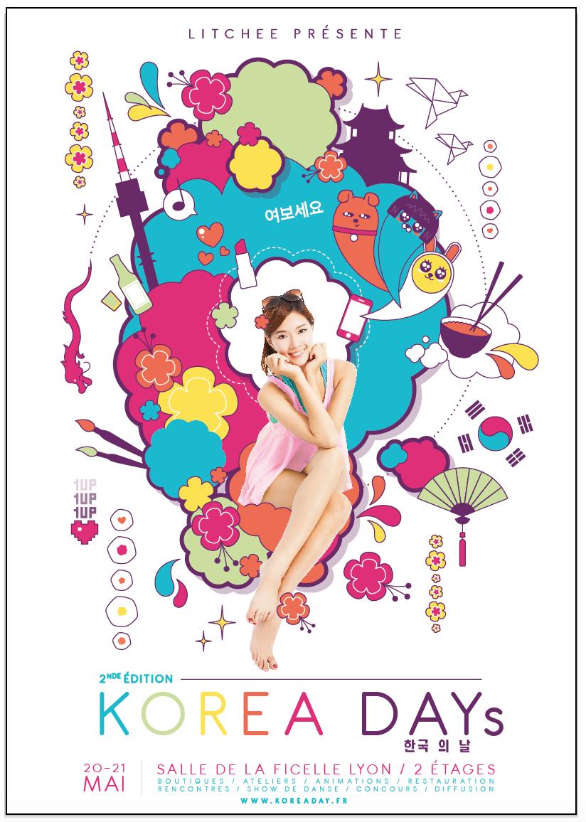 Affiche korea day 2 lyon
