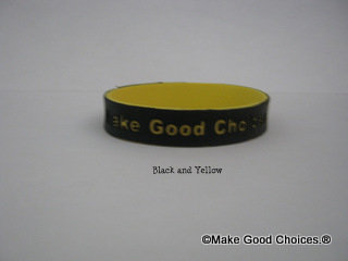 Wrist Band Black With Yellow Letters