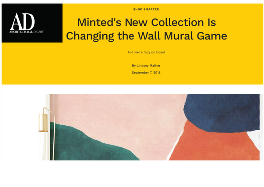 Architectural Digest feature on Wall Murals