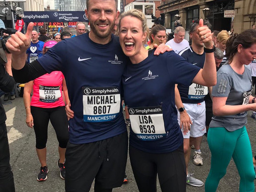 Michael Carrick takes part in the Manchester 10k to raise funds for local children in Manchester