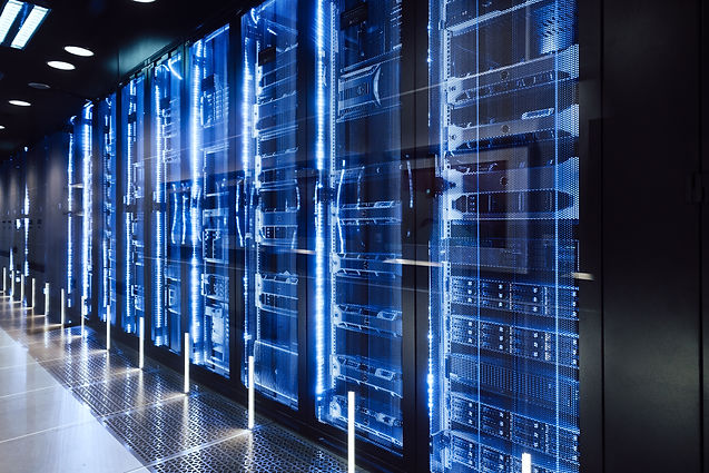data center in server room with server r