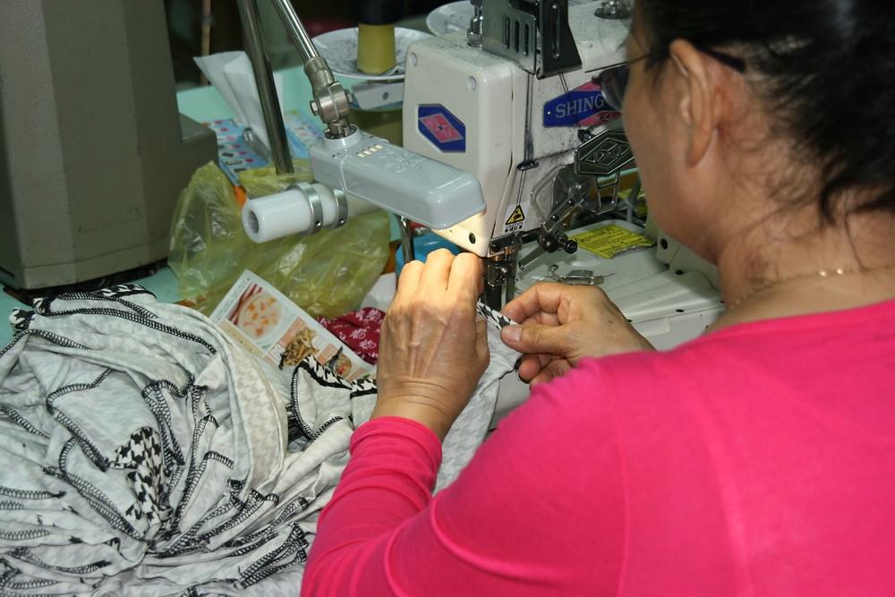 圖:小時候媽媽也有縫製衣服,感覺很親切