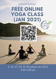 免費網上瑜伽班 Free Online Yoga Class (Jan 2021)