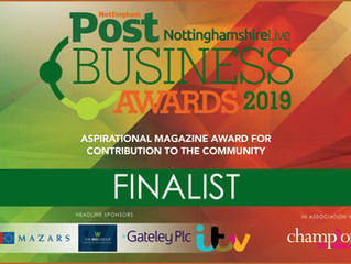 We are Nottingham Post Business Awards Finalists!