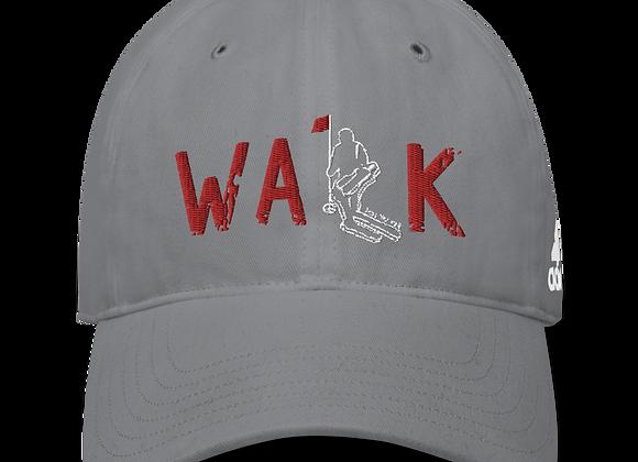 WALK - Performance Cap - Grey - Red Logo