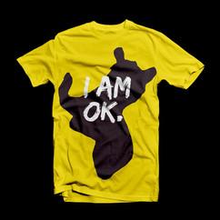 T-Shirt OK Amarelo Imprimir