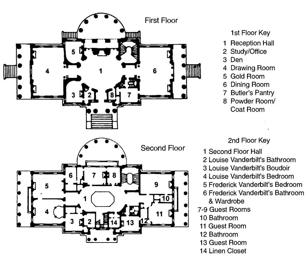 Mansion floor plan.