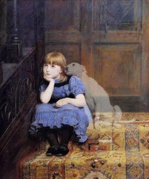 Spirit dog with little girl