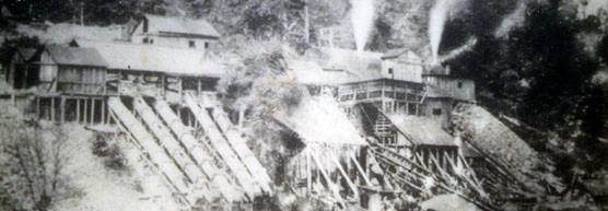 Cabin Branch Pyrite Mine in Operation (Courtesy: NPS)