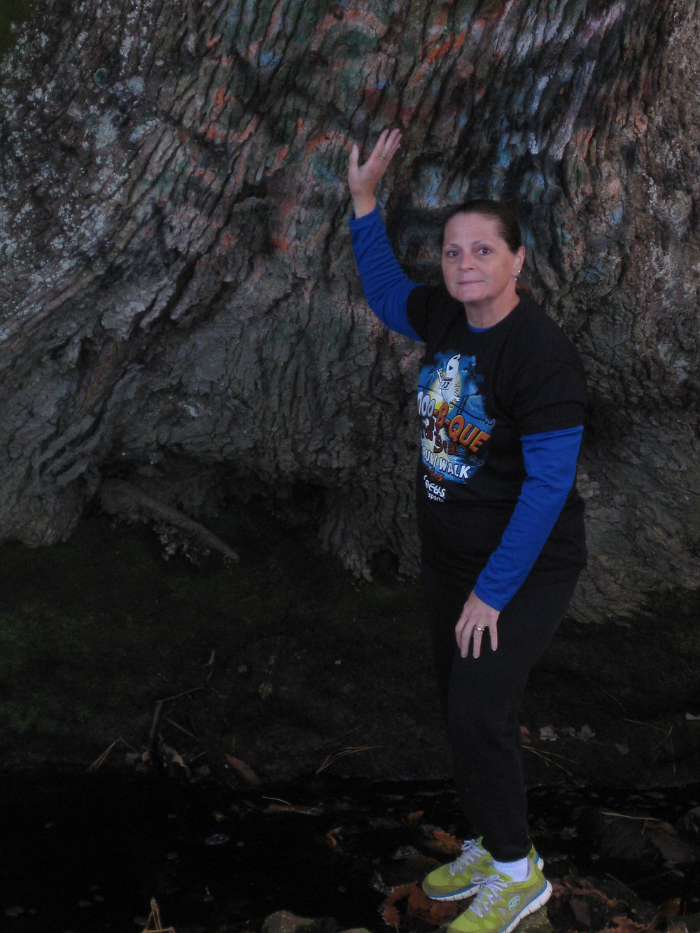 Dr. Carol A. Pollio visits the Witch's Tree