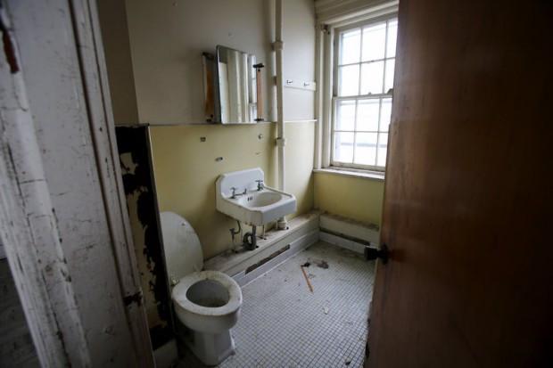 Old bathroom at Fort Hancock