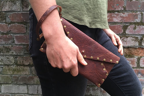 Leather Clutch | Brown