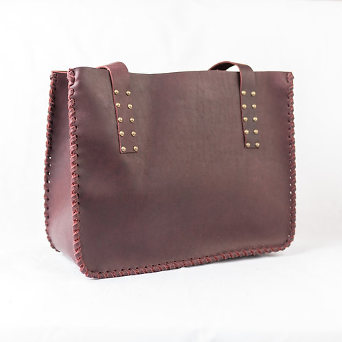 Leather Tote   Large