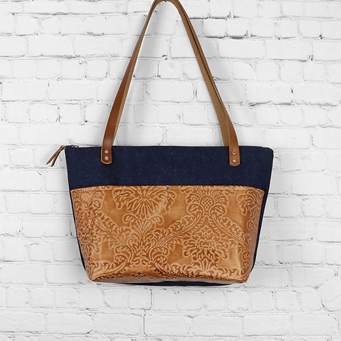 Large Tote   Leather Accents