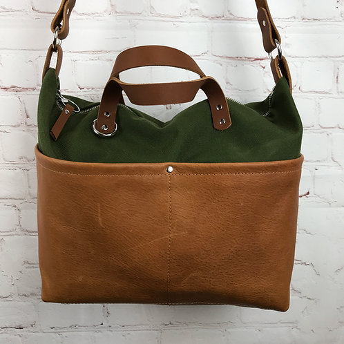 Large Tote | Leather Accents